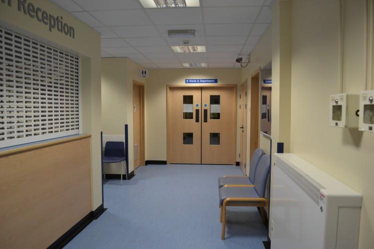 Refurbishment Of Hospital Reception Walker Construction